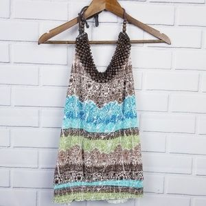 3/$25 Almost Famous Beaded Neck Tank Top